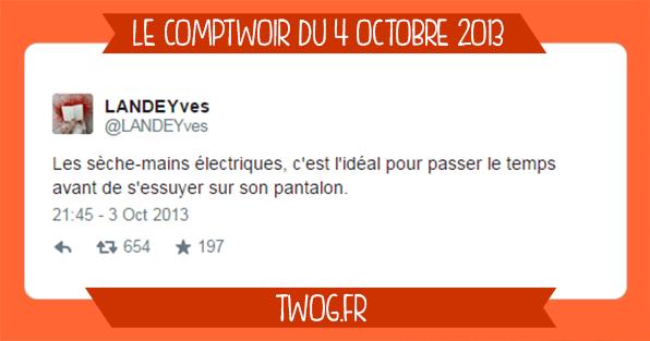 Sélection meilleurs tweets octobre 2013 humour drôle blagues boutades