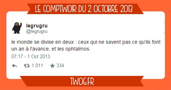 Comptwoir sélection meilleurs tweets octobre 2013 humour drôle blagues