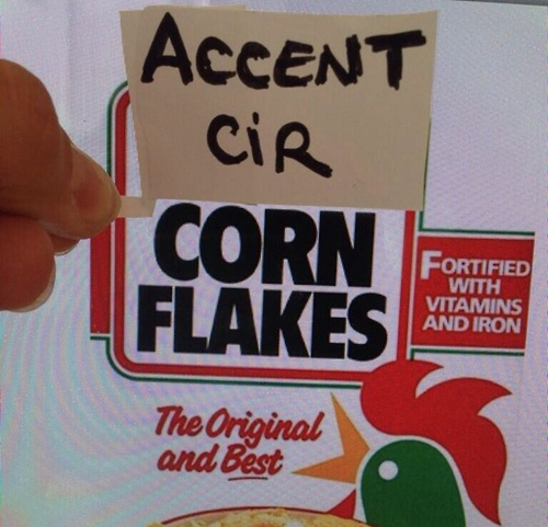 Accent cir Corn Flakes