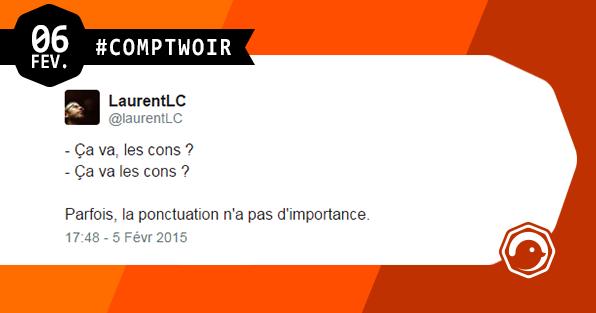 Comptwoir du 6 février 2015