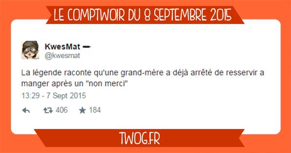 Humour sélection tweets comptwoir de septembre meilleur de twitter lol