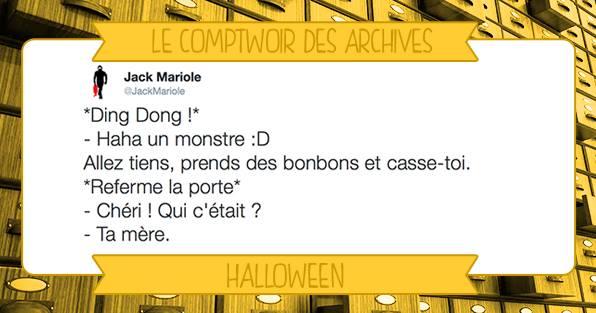 Comptwoir de l'archiviste vieux tweets lol humour halloween peur bonbons toussaint