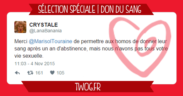 réaction twitter don du sang marisol touraine homosexuels gays sélection tweets