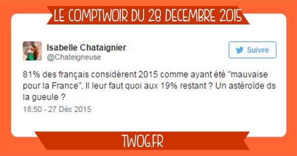 Comptwoir décembre meilleure tweets humour lol mdr insolite