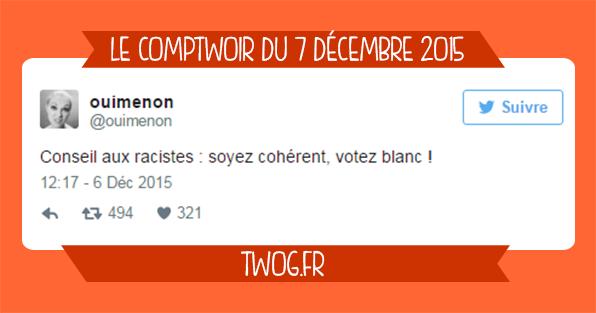 Comptwoir 7 décembre 2015 régionales benzema humour sélection meilleurs tweets
