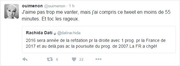 @ouimenon  J'aime pas trop me vanter, mais j'ai compris ce tweet en moins de 55 minutes. Et toc les rageux.