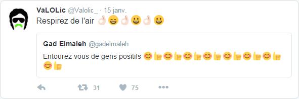 VaLOLic @Valolic_  15 janv. VaLOLic a retweeté Gad Elmaleh Respirez de l'air ????
