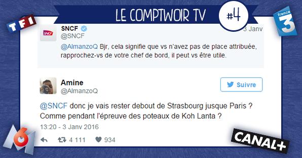 Comptwoir TV puppet TF1 canal+ D8 M6 France3