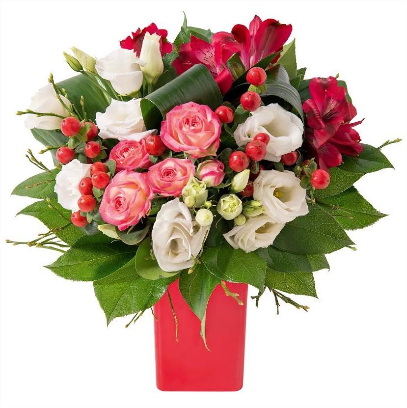St valentin 2015 avec interflora vos messages d amour et for Bouquet saint valentin