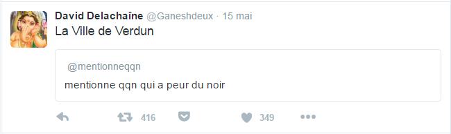 David Delachaîne @Ganeshdeux  15 mai David Delachaîne a retweeté ️ La Ville de Verdun