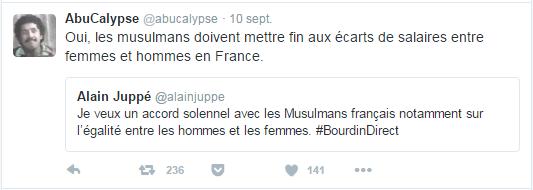 Oui, les musulmans doivent mettre fin aux écarts de salaires entre femmes et hommes en France.