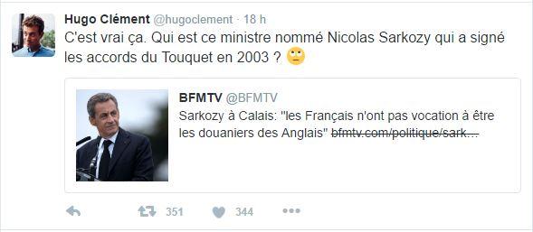 C'est vrai ça. Qui est ce ministre nommé Nicolas Sarkozy qui a signé les accords du Touquet en 2003 ?