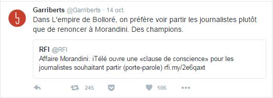 Dans L'empire de Bolloré, on préfère voir partir les journalistes plutôt que de renoncer à Morandini. Des champions.