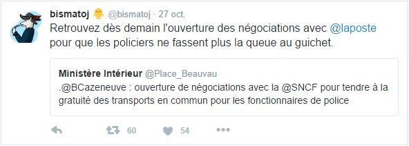 Retrouvez dès demain l'ouverture des négociations avec @laposte pour que les policiers ne fassent plus la queue au guichet.
