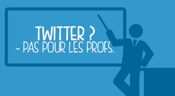 Image de couverture de l'article : Twitter ? Pas pour les profs.