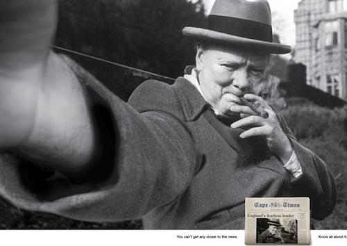 Churchill. Posé.