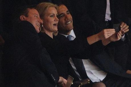 Selfie durant l'hommage.