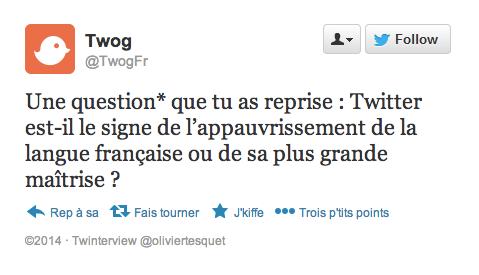 *Question posée par @BernardPivot1 dans ce tweet