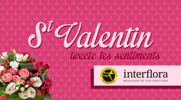 Image de couverture de l'article : Fêtez la St Valentin 2016 avec Interflora !