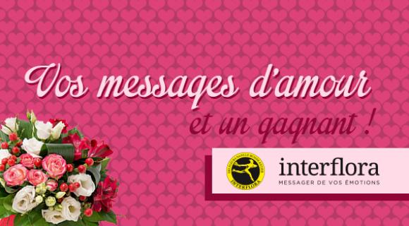 Image de couverture de l'article : St Valentin 2015 avec Interflora : vos messages d'amour et un gagnant !