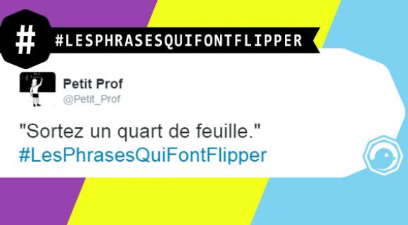 Image de couverture de l'article : #LesPhrasesQuiFontFlipper