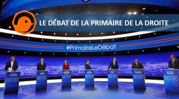 Image de couverture de l'article : Twitter commente le débat de la primaire de la droite