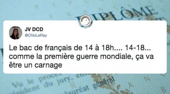 Image de couverture de l'article : Bac de Français 2018 : les meilleurs tweets