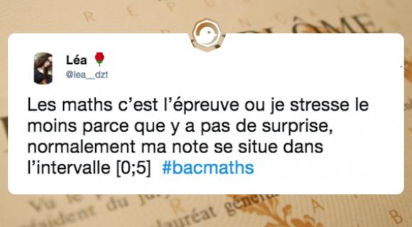 Image de couverture de l'article : Bac de Mathématiques 2018 : les meilleurs tweets