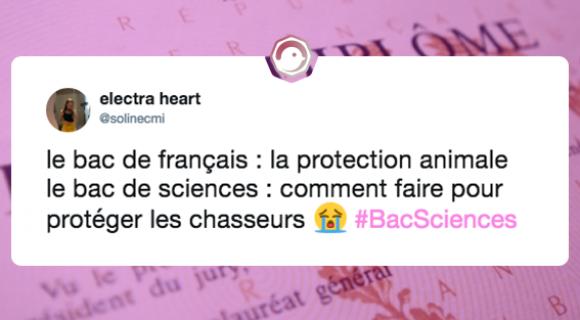 Image de couverture de l'article : Bac de Sciences 2018 : les meilleurs tweets