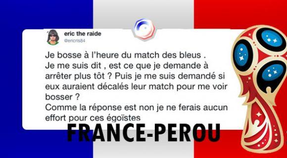 Image de couverture de l'article : France-Pérou : les meilleurs tweets