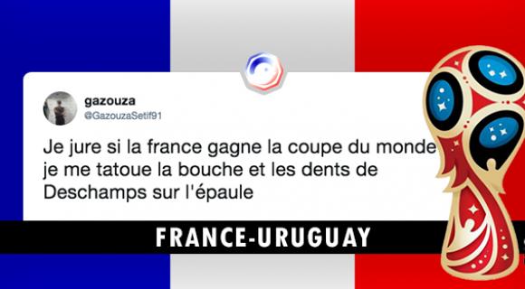 Image de couverture de l'article : Quart de finale France-Uruguay : les meilleurs tweets