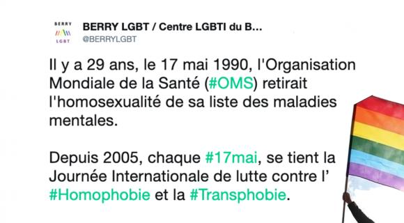 Image de couverture de l'article : Journée mondiale contre l'homophobie et la transphobie 2019