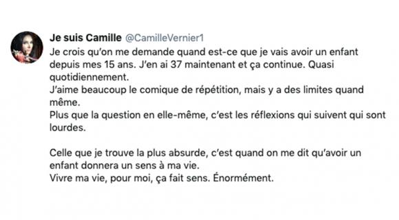 Image de couverture de l'article : 3 questions à @CamilleVernier1 : ne pas vouloir d'enfant !