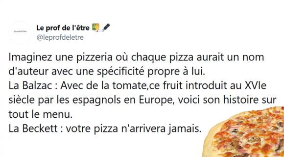 Image de couverture de l'article : Les 30 meilleurs tweets sur les noms de pizzas littéraires !