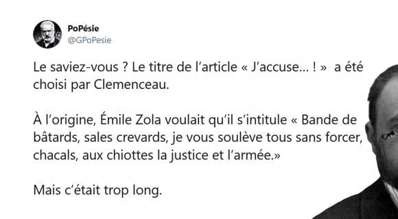 Image de couverture de l'article : Sélection spéciale Emile Zola : les meilleurs tweets