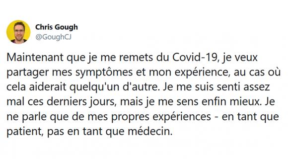 Image de couverture de l'article : Thread : Témoignage d'un contaminé au coronavirus
