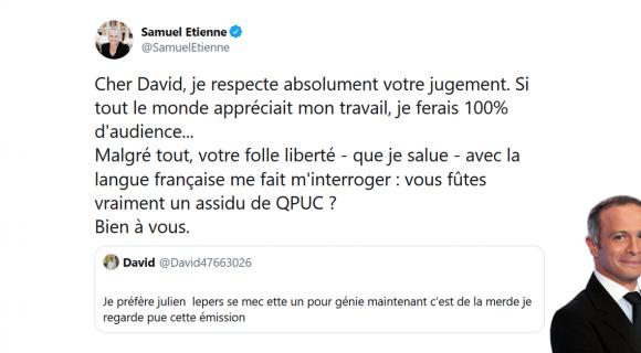 Image de couverture de l'article : Les 15 meilleurs tweets de Samuel Etienne, le présentateur de Question pour un champion