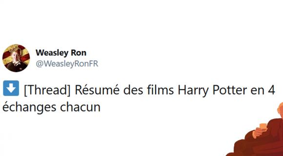 Image de couverture de l'article : Thread : Les Harry Potter résumés en quatre échanges