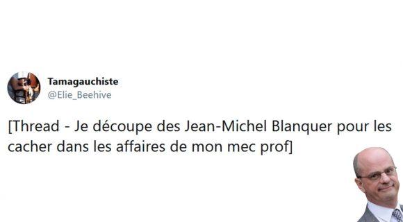 Image de couverture de l'article : Thread : Jean-Michel Blanquer, mon copain prof et moi