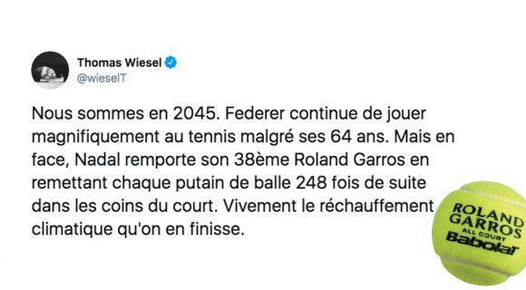 Image de couverture de l'article : Top 20 des tweets sur Roland-Garros, ça commence enfin !