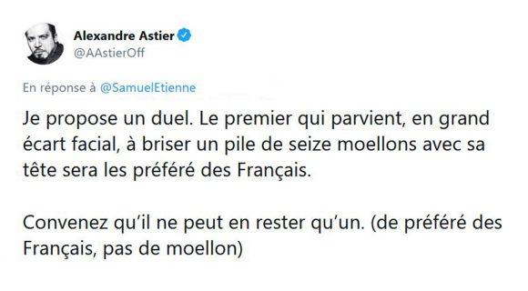 Image de couverture de l'article : Le combat titanesque entre Alexandre Astier et Samuel Etienne!