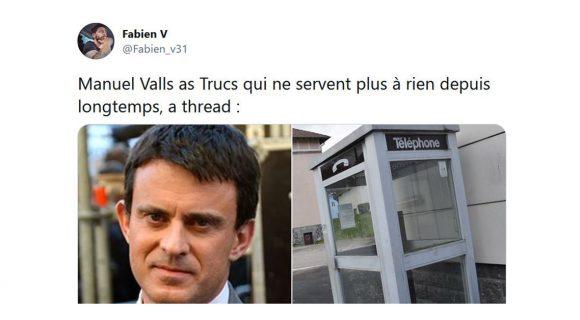 Image de couverture de l'article : Thread : Manuel Valls as Trucs qui ne servent plus à rien depuis longtemps