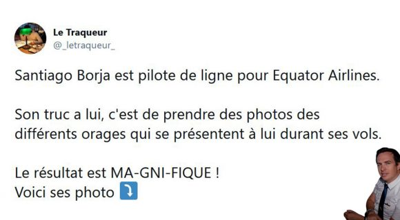 Image de couverture de l'article : Thread : les orages photographiés… depuis le cockpit d'un avion