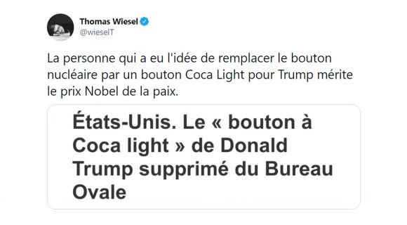 Image de couverture de l'article : Le bouton à Coca Light de Donald Trump, sa meilleure idée ?