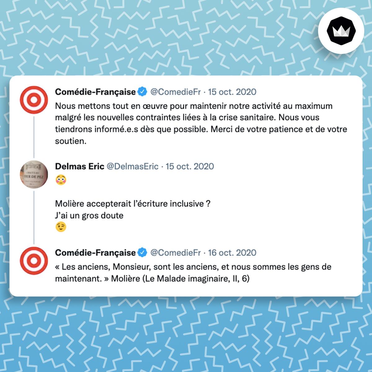 tweet de la comédie française